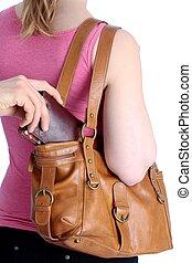 手提包, 皮夾子,  pickpocketing, 在外