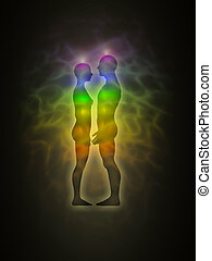 Human aura - profile - Picture of human aura Silhouette with...