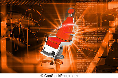 barbershop chair - Digital illustration of barbershop chair...