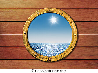 navio, porthole