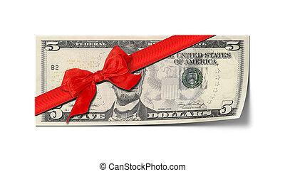 five dollar voucher - An image of a five dollar voucher