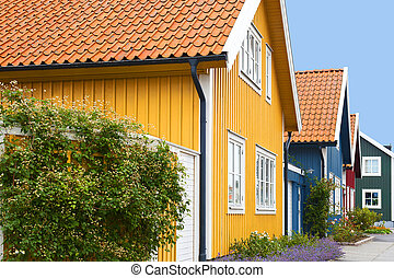 Wooden houses - Wooden colorful houses