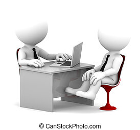 Office consultation Isolated over white background