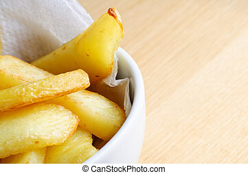Bowl of Chips Close Up