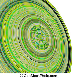 3d render concentric pipes in multiple green colors