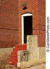 Old building side entrance