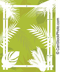 Tropical Background with Bamboo Fra