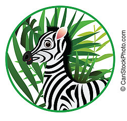 funny zebra cartoon - illustration of funny zebra cartoon