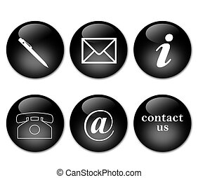 contact signs in black