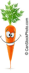 smiling carrot with top