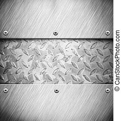 Silver metal background - A silver metal panel background