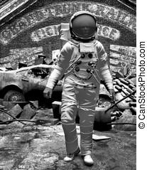 Astronaut Futuristic Earth