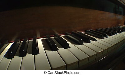 Piano keys static perspective - Piano keys on a grand piano...