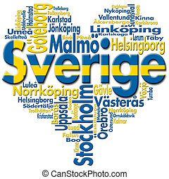 I Love Sverige (Sweden) - Written Sverige (sweden) and...