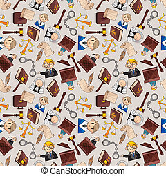 law seamless pattern