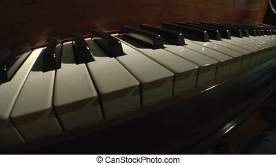 Piano keys dolly perspective - This is a dolly shot of the...