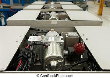 hydraulic pumps on a testing unit
