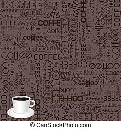 Background with coffee typography