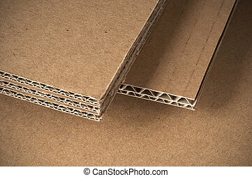 corrugated cardboard sheets view of the side