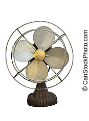 vintage-fan - isolated vintage electric fan on white...