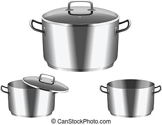 pan with  cover - Vector image of  pan with  cover