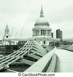 St Paul's Cathedral and Millennium Bridge - St Paul's...