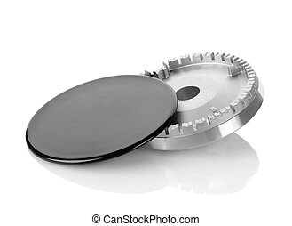 Stove gas burner isolated on a white background. Clipping...