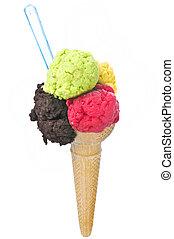 Ice cream isolated on white