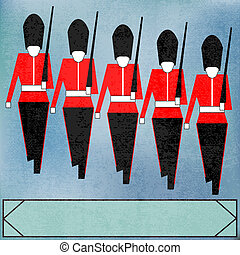 Marching Guardsmen - Guardsmen for a Royal event or Jubilee