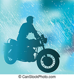 Motorcyclist Background