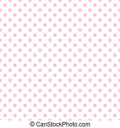 Pale Pink Polka Dots on White - Baby pink polkadots on white...