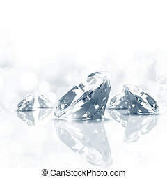 Diamond background - Luxury background of diamond in blue...