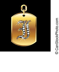 I medal in gold and diamonds vector