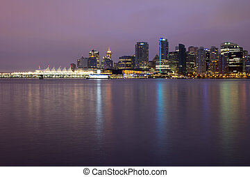 Vancouver BC City Skyline at Dawn - Vancouver BC City...