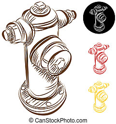 Fire Hydrant Drawing - An image of a fire hydrant drawing