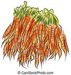 Carrot Stack - An image of a carrot stack.
