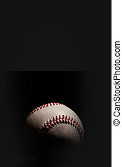 Dark Baseball - Vertical - Baseball isolated on black...