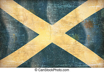 Scotland - Old grunge flag of Scotland background vector