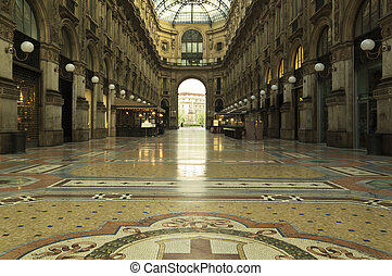 Gallery Vittorio Emanuele in the center of Milan Italy