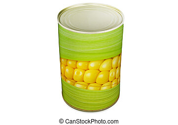 Can of corn close up