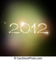 New Year 2012 in space