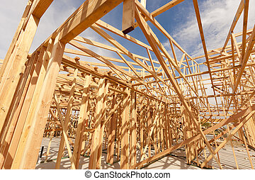 New Construction Home Framing Abstract - New Construction...