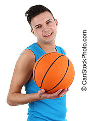 Guy with a basketball