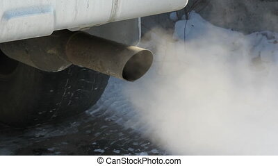 Exhaust gases from the muffler runn