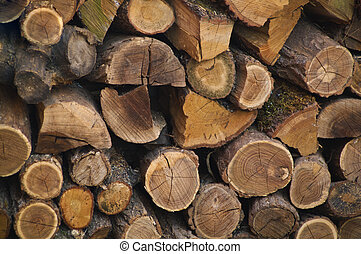 Stacked logs in the box  texture
