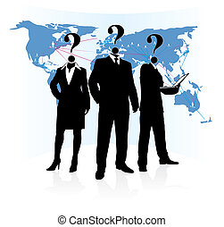 unknown people group - silhouette of group unknown people on...