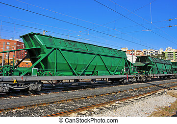 freight cars in the railway