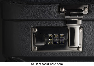 Briefcase Abstract with 911 on Lock - Briefcase Abstract...