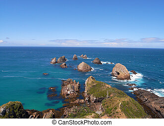 Nugget point rock circle - New Zealand