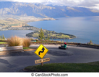 Luge ride with queenstown view - Luge ride with view on lake...